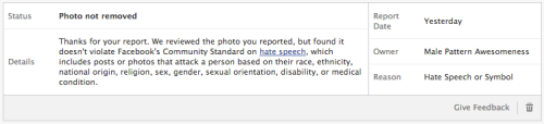 Facebook's backwards community guidelines.